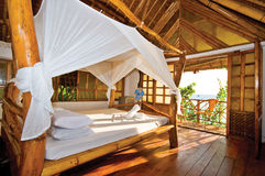 Wooden Bungalow with Perfect Seaview. Wooden Bungalow with Perfect Tropical Seaview Stock Images