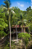 Wooden bungalow resort in Koh Phangan island Royalty Free Stock Photography