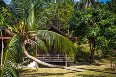 Wooden bungalow resort in Koh Phangan island Royalty Free Stock Image