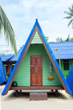 Wooden bungalow on a tropical beach Royalty Free Stock Photo