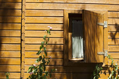 Wooden bungalow window Stock Photography