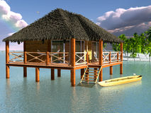 The wooden bungalows. Stock Photography