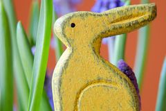 Wooden bunny Royalty Free Stock Images