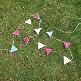 Wooden bunting Royalty Free Stock Images