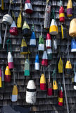 Wooden Buoys Royalty Free Stock Images