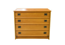 Wooden bureau. This item isolated over white Stock Image