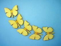 Wooden butterflies Stock Images