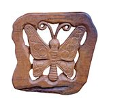 Wooden Butterfly Royalty Free Stock Images
