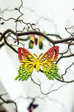 Wooden butterfly Stock Photo