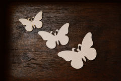 Wooden butterfly Royalty Free Stock Photo