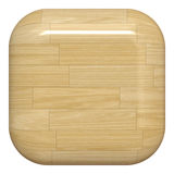 Wooden button. Shiny empty wooden square button Royalty Free Stock Photos