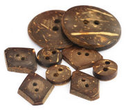 Wooden Button Royalty Free Stock Images