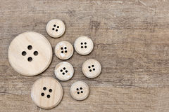Wooden button Stock Photography