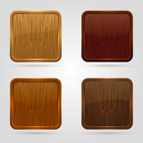 Wooden button Stock Images