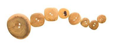 Wooden buttons Stock Photos