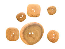 Wooden buttons Royalty Free Stock Image