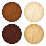Wooden buttons Royalty Free Stock Photos