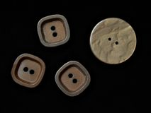Wooden buttons Stock Image