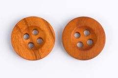 Wooden buttons Stock Photo