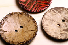 Wooden buttons Stock Photography