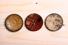 Wooden buttons Royalty Free Stock Photo