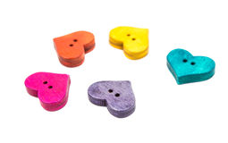 Wooden buttons for clothes Stock Photos