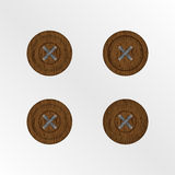 Wooden buttons isolated. Stock Image