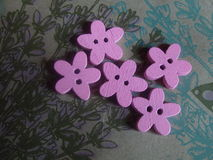 Wooden buttons for sewing Stock Image
