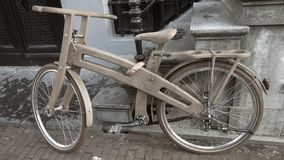 Wooden bycicle stock photography