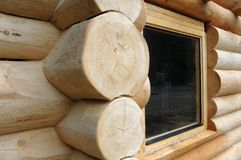 Wooden cabin. Detail of wooden cabin royalty free stock photography