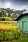 Wooden cabin Stock Photography