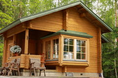Wooden cabin Royalty Free Stock Image