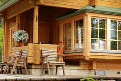 Wooden cabin Stock Image