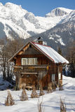 Wooden cabin. In the alps, Austria Stock Images