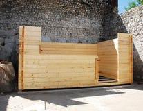 Wooden Cabin Construction Stock Photos