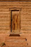 Wooden cabin door Stock Photography