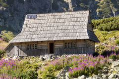 Wooden cottage in Five Lakes valley - Tatra Mounta Stock Photo