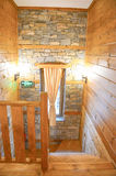 Wooden cabin interior Royalty Free Stock Photos