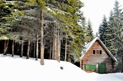 The Wooden cabin Stock Photography
