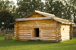 Wooden cabin Stock Photos