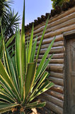 Wooden cabin with sisal Stock Photos