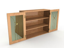 The wooden cabinet №1 Stock Images