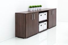 Wooden cabinet Stock Image