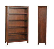 Wooden cabinet bookcase Stock Photos