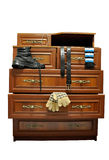Wooden cabinet. Royalty Free Stock Photography