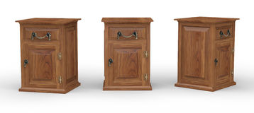 Wooden cabinet with clipping pah Stock Photo