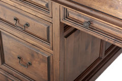 Wooden cabinet detail Royalty Free Stock Image
