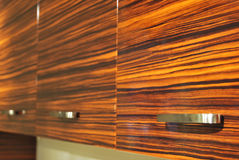 Wooden cabinet door Royalty Free Stock Images
