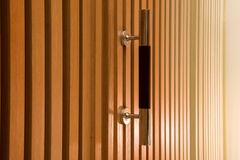 Wooden cabinet doors Royalty Free Stock Image