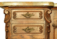 Wooden cabinet drawer Stock Photos